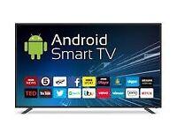 "65"" Android Smart HD Digital TV Screen, USB, Speakers, Ultra Slim"