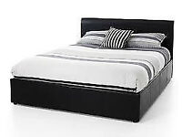 STILL WRAPPED DOUBLE LEATHER BED INC MATTRESS FREE BEDSIDE CABINET 1