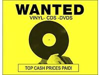 WANTED ~ VINYL RECORDS / CD's / DVD's