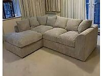 New brand jumbo cord 4 seater corner sofa with different color and design avilable for sale