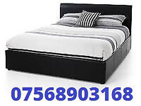 STILL WRAPPED DOUBLE LEATHER BED INC MATTRESS FREE BEDSIDE CABINET 082