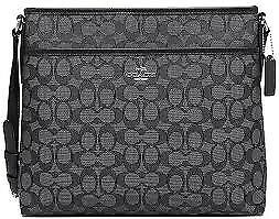 Coach Signature File Bag in Smoke Black (NEW)