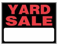 Yard Sale- OCT LONG WEEKEND