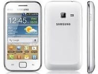 samsung galaxy ace white colour unlocked in good working condition