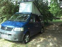 2005 VW T5 SWB 1.9 TD 5 speed manual in Blue. Camper van.