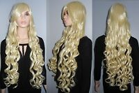 NEW W/ TAGS: 80cm Long Curly Deluxe Platinum Blonde Cosplay Wig