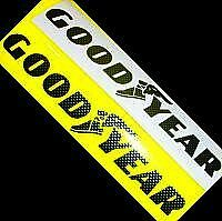Goodyear - Carbon Fiber Stickers Decals 13 (33cm) Long