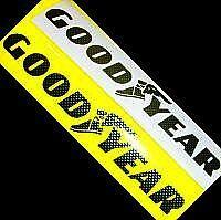 Goodyear - Carbon Fiber Stickers Decals 13 (33cm) Long
