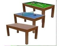 SPORTS TABLE/TABLE TENNIS, POOL AND DINNER