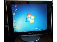 "Sony SDM-HS93 19"" Flat Panel LCD Monitor Black & Silver"