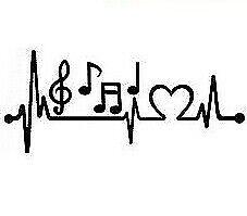 Music Heartbeat Decal Vinyl Sticker Truck Laptop Car Window