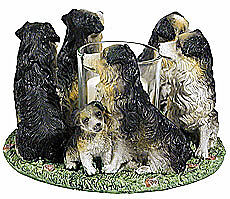 Circle of Australian Shepherds,Aussies candleholder,Aussi votive