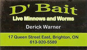 NOW SELLING WORMS $3 a dozen and $5 a dozen for MINNOWS