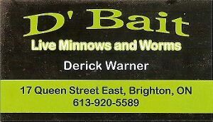NOW SELLING WORMS $3 a dozen and we have MINNOWS $5 a dozen