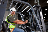 Large Water company looking for experienced forklift operators.