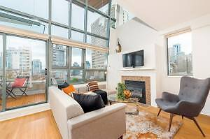BEAUTIFULLY 2 STORY PENTHOUSE ON  ROBSON ST. AT PACIFIC PALAIS