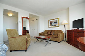 FULLY FURNISHED 1 Bedroom in Downtown Ottawa!  Availaible NOW