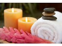 relaxing massage by female and male therapists