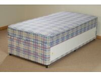 Brand New Comfy Single Storage Divan Store Bed set FREE delivery Factory Sealed