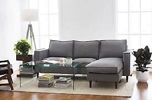 Structube Sectional - Light Grey