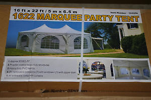 16' x 22' NEW MARQUEE PARTY TENT NEVER USED $875
