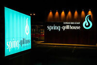 Spring Grill House is hiring a part time, graphic designer