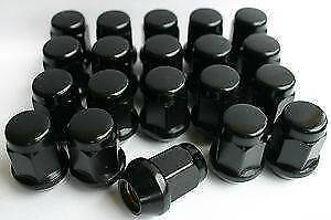 BLACK WHEEL NUTS for toyota,holden,ford,mazda,honda FROM $50 Coopers Plains Brisbane South West Preview