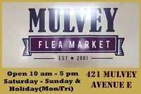 """Yes """"Mulvey Flea Market will be open THANKSGIVING MODAY OCT10TH"""