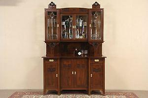 Leaded Glass Door Cabinets & Glass Door Cabinet | eBay