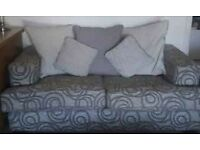 Sofa 3+2 with matching foot stool