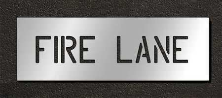 Rae Stl-116-70631 Pavement Stencil,Fire Lane,6 In