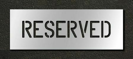 Rae Stl-116-70433 Pavement Stencil,Reserved,4 In