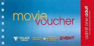 Movie Voucher at ANY EVENT CINEMAS for only $13 each Breakfast Point Canada Bay Area Preview