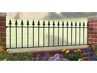 New wrought iron railings various sizes £10 per ft