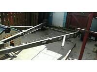 Trailer frame/bike trailer/flatbed/braked trailer project many uses