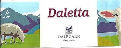 Dale of Norway Daletta, 100% Washable Wool, 50 gr skein, 154 yd each, Fingering
