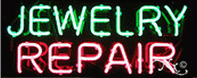 Brand New Jewelry Repair 24x10x3 Real Neon Sign Wcustom Options 12085