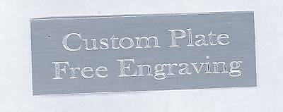 """Engraved Plate art-trophy-Taxidermy 1/2""""x3"""" Silver aluminum free engraving"""