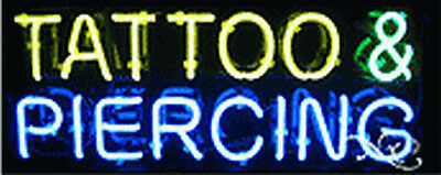 Brand New Tattoo Piercing 24x10x3 Real Neon Sign Wcustom Options 12172
