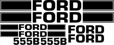 Ford 555b Loader Tractor Decal Set Sticker Backhoe B Kit 555 Lk