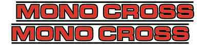 2 MONO CROSS YAMAHA DT, XT, TT, YZ,Stickers / Decals for Swing Arm non OEM.