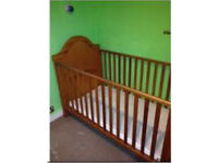 Cot-bed, with mattress and storage