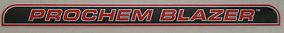 Prochem Truckmount Blazer Decal Sticker Carpet Cleaning Machines New