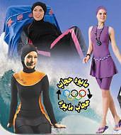 Modest Ladies Burkini, Burqini Burquini, Bathingsuit, Swimwear