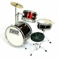 WineRed Junior Drumset w Hardware, Cymbal & Throne BRAND NEW
