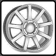 17X7.5 5/100-112 AUDI REPLICA A03 SILVER PAINTED  $99.95 each