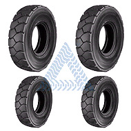 Set of 6 President forklift tires