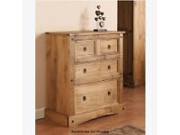Rio wooden bedroom chest of drawers