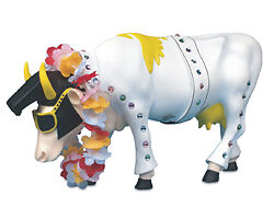 Cow Parade Rock N Roll Elvis Music Cow Resin Figurine Gift Statue