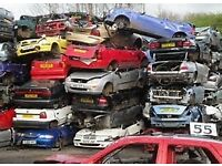 Scrap cars vans wanted cash paid with or without logbooks
